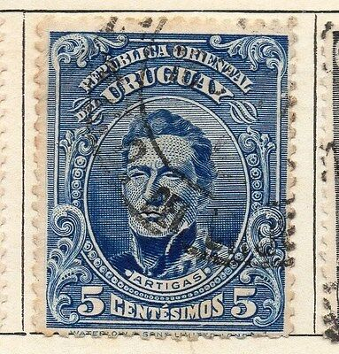 Uruguay 1910 Early Issue Fine Used 5c. 055435