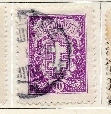 Lithuania 1926 Early Issue Fine Used 10c. 055504