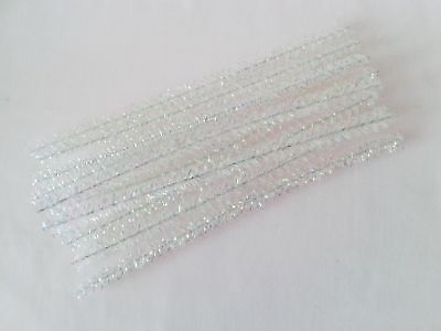 25 IRIDESCENT CURLY CRAFT STEMS/PIPE CLEANERS - 25cm x 1.5cm