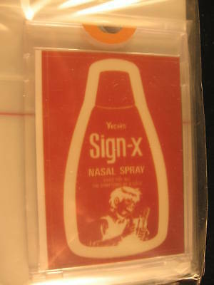 1980 Topps Wacky Packages Series IV Art Yich's Sign-X