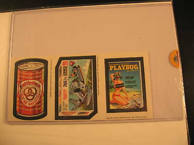 Topps Wacky Packages Uncut 3-Card Strip