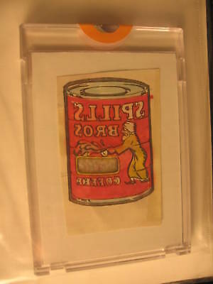 1974 Topps Wacky Packages Tattoos Orig. Art Spills Bros
