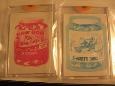 1973 Topps Wacky Packages Series 4 Proofs Raw Goo
