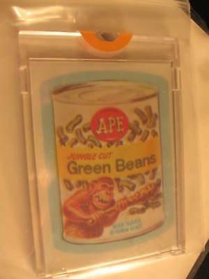 1980 Topps Wacky Packages Acetate Overlay Proof Set Ape