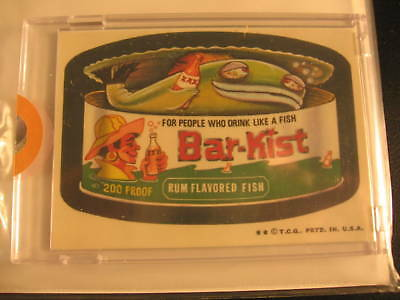 1973 Topps Wacky Packages Proof Card Bar Kiss