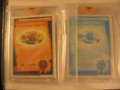 1985 Topps Garbage Pail Kids (2) Proof Card Set #73