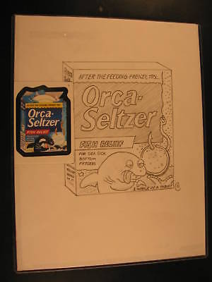 2006 Topps Wacky Packages ANS4 Rough Art Orca Seltzer