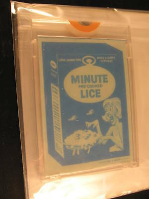 1973 Topps Wacky Packages Blue Line Proof Minute Lice