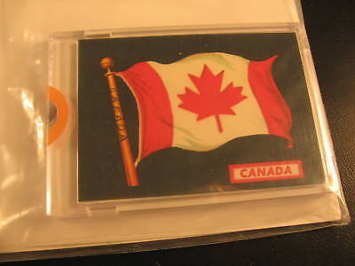 1970 Topps Flags of the World Sticker Card Canada