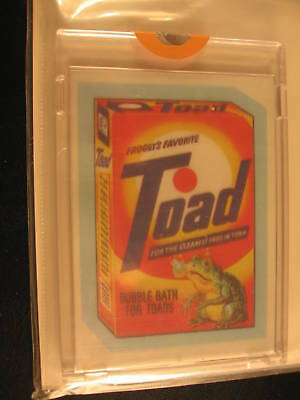 1980 Topps Wacky Packages Acetate Overlay Proofs Toad