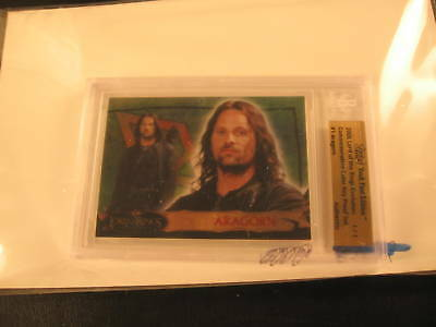 2006 Topps Vault Lord of the Rings Proof #1 BGS 1/1