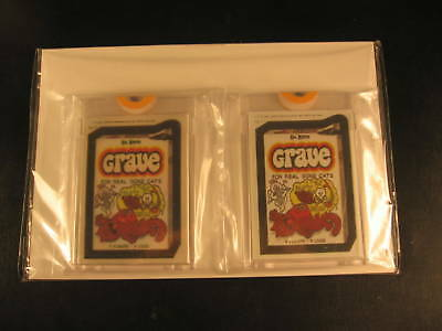 1985 Topps Wacky Packages (2) Proof Set #11 Grave
