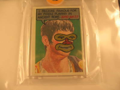 1967 Topps Who Am I ? Proof Nero