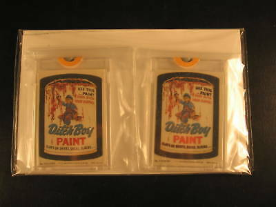 1980 Topps Wacky Packages (2) Proof Set #222 Ditch Boy