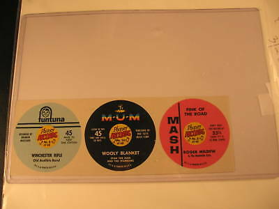 1967 Topps Phoney Records Test Issue 3 Card Strip