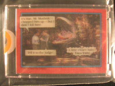 1986 Topps Little Shop Of Horrors Acetate Overlay PROOF