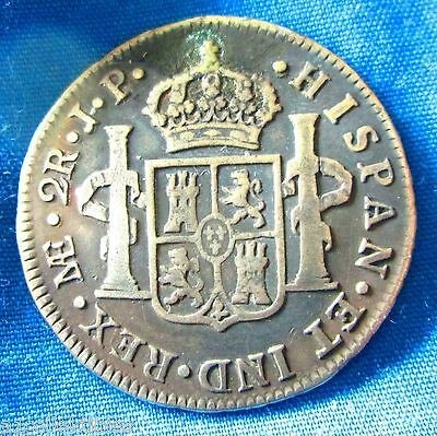 1812 Peru  2 Reales  Silver  Colonial Spanish Coin Ab-016