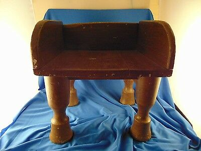 Handcrafted stool 4 chunky legs rustic primitive design paint milking fireplace