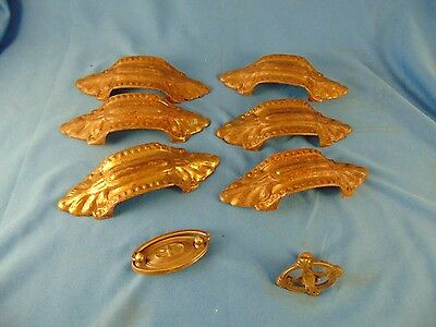 Antique drawer pulls 8 pcs. furniture hardware 6 pc.set refinisher supplies art