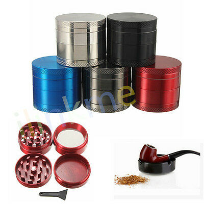 4 Layers Metal Tobacco Crusher Hand Muller Cigarette Smoke Herbal Herb Grinder