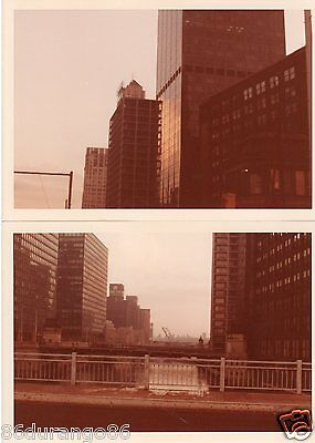 Vintage Photographs Downtown Chicago  Chicago River
