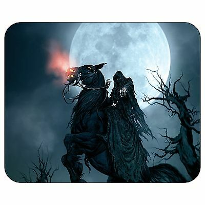 Grim Reaper With Horse Mousepad Mouse Pad Mat
