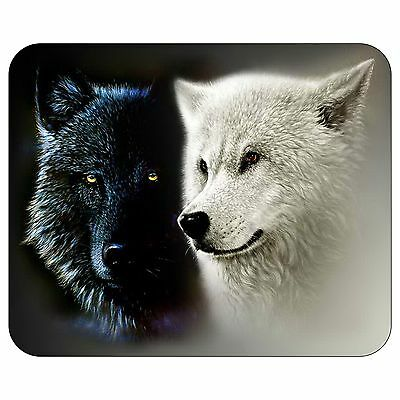 Black And White Wolf Mousepad Mouse Pad Mat