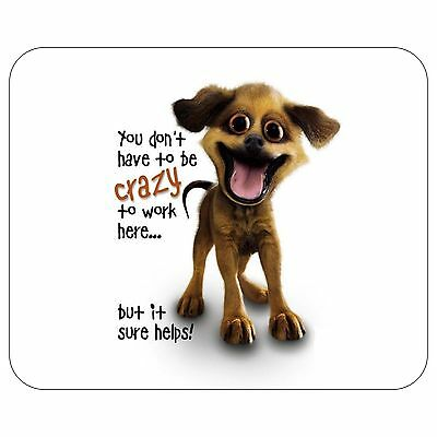 Crazy Dog Mousepad Mouse Pad Mat