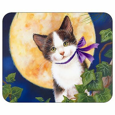 Cat With Moon Mousepad Mouse Pad Mat