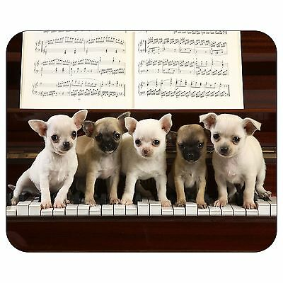 Puppy On Piano Mousepad Mouse Pad Mat