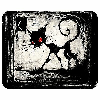 A Gothic Cat Red Eyes Mousepad Mouse Pad Mat