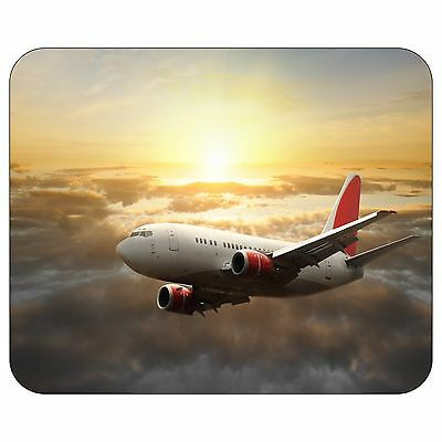 Airplane In The Sunset Mousepad Mouse Pad Mat