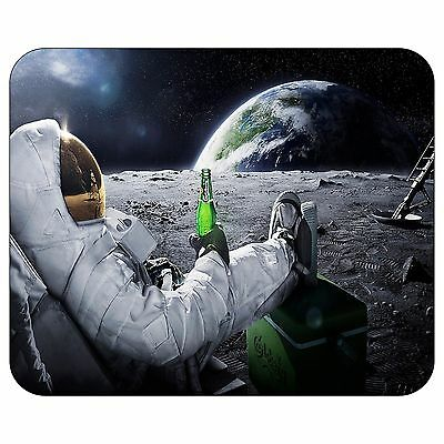 Astronaut Having A Beer On The Moon Mousepad Mouse Pad Mat