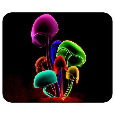 Neon Mushrooms Mousepad Mouse Pad Mat