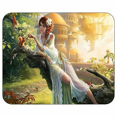 Fairy Sitting On A Tree Trunk Mousepad Mouse Pad Mat
