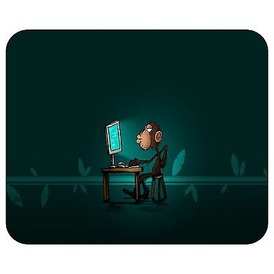 Monkey On The Computer Mousepad Mouse Pad Mat