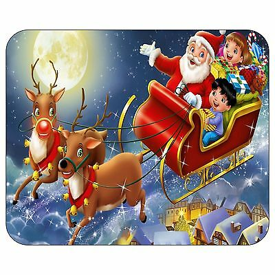 Christmas Night In Santa's Sleigh Mousepad Mouse Pad Mat