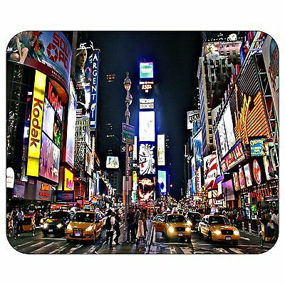 New York Times Square At Night Mousepad Mouse Pad Mat