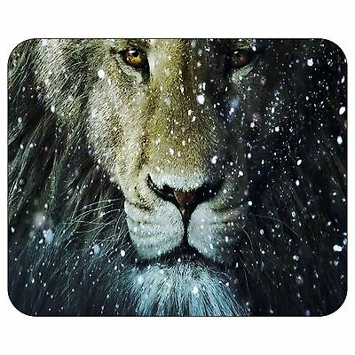 Lion In The Snow Mousepad Mouse Pad Mat
