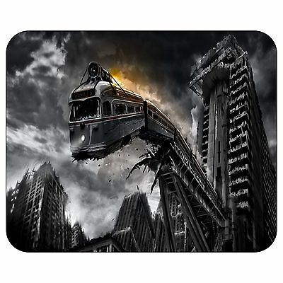 Train Crashing Mousepad Mouse Pad Mat