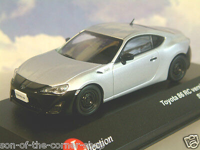 J-Collection Diecast 1/43 Toyota Gt-86 Rc Version 2012 In Silver/black Jc280