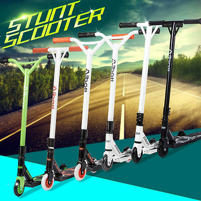 New Pro Stunt Trick Push Scooter w/ Fixed Bar 360 Degree for Adult Kids Children