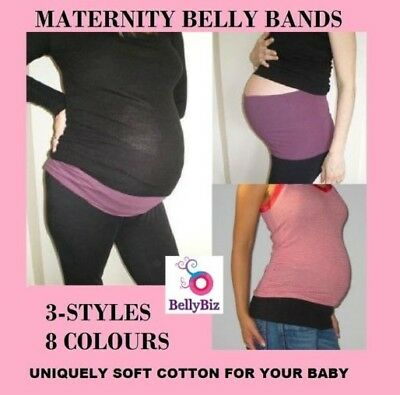 MATERNITY Belly Bands *3 Styles Lots of colours from $7.25 Prof Australian Made!