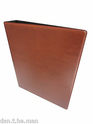Tan A4 Multi-Master Collectors Album / Binder  - Padded 4 Ring Binder