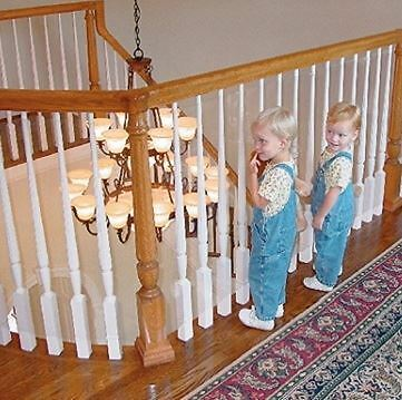 KidKusion Bannister Guard and Cover Baby Safety Stair Case Spindle Guard Plastic