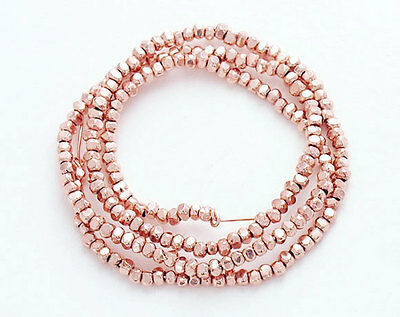 Karen hill tribe Rose Gold Vermeil Style 200 Faceted Beads 1.4mm.