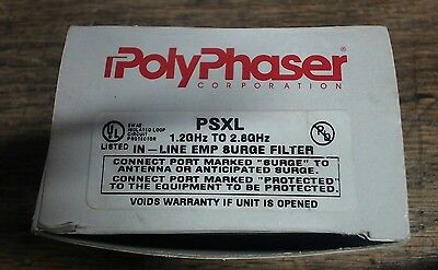 NIB Polyphaser PSXL in-line EMP surge filter - 60 day warranty