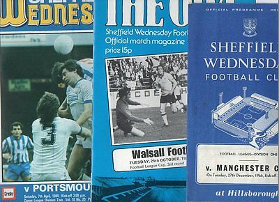 Sheffield Wednesday HOME programmes 1980's