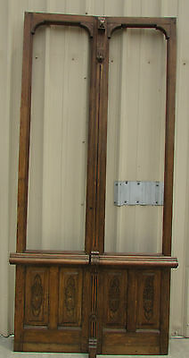 Antique Mexican Old Pair Carved Doors-Vintage-Primitive-Rustic-48x104---WOW