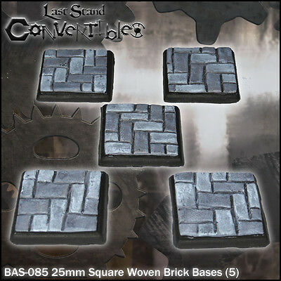 LAST STAND CONVERTIBLES BITS WOVEN BRICK BASES - 5x 25mm SQUARE